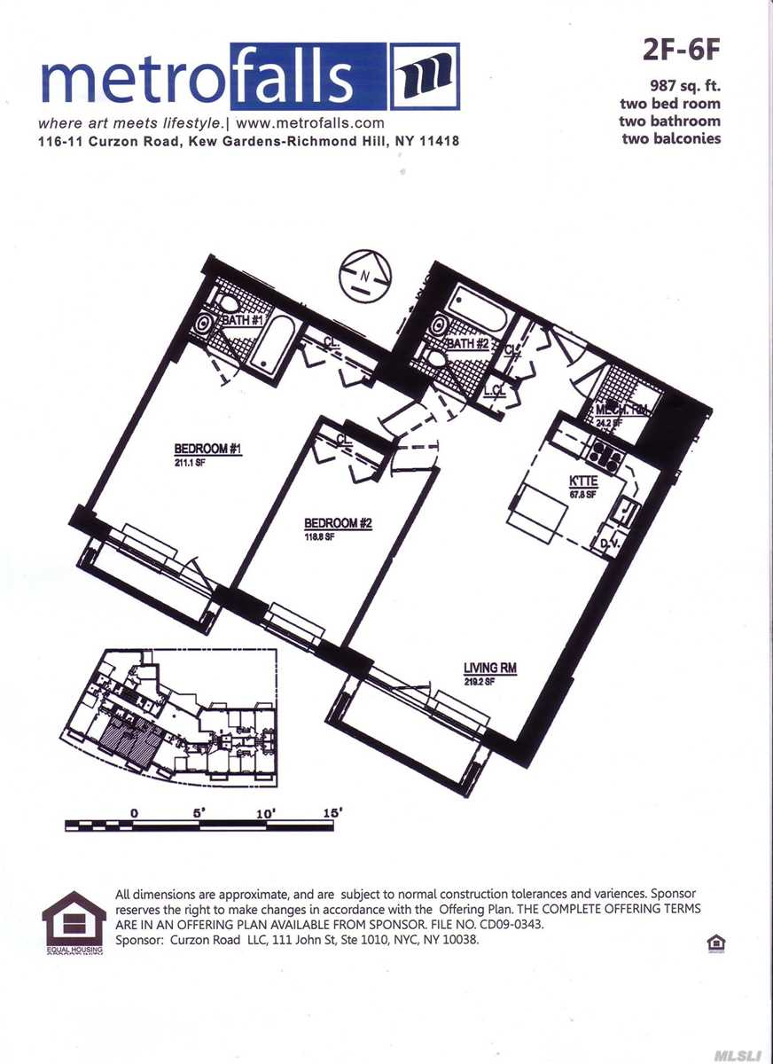 Property for sale at 116-11 Curzon Road # 6F, Kew Gardens NY 11415, Kew Gardens,  New York 11415