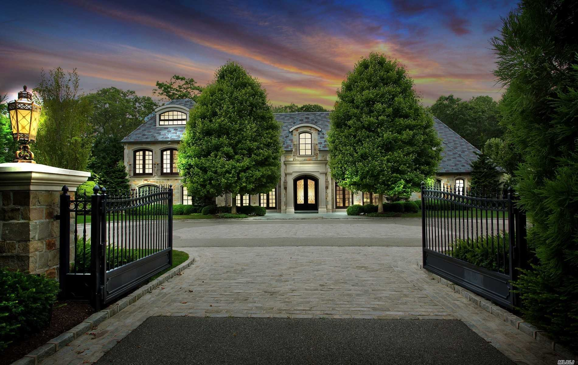 Rendezvous; Outstanding 7500sq. ft. Granite Gated French Normandy sited on 2+ Glorious Acres. A symphony of Masterful Craftsmanship & Design. Sumptuous Main Floor Mstr. A Sublime Retreat with Dual Dressing Rooms & 2 Onyx Spa Baths. 7 Car garage heated & AC perfect for the Car Enthusiast! 22x50 Salt Water Pool, Pool House, Full house Generator, Lower Level 5500sq. ft. A Masterpiece Collection Listing. JERICHO SCHOOL DISTRICT #15.