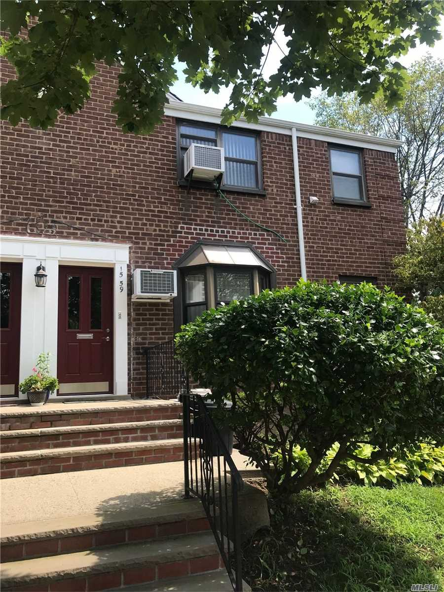 Upper corner unit. More window exposure.   One bedroom, living room, dining area, renovated kitchen, dishwasher, updated bath, washer, dryer, attic for storage.  Excellent condition!  Must see!