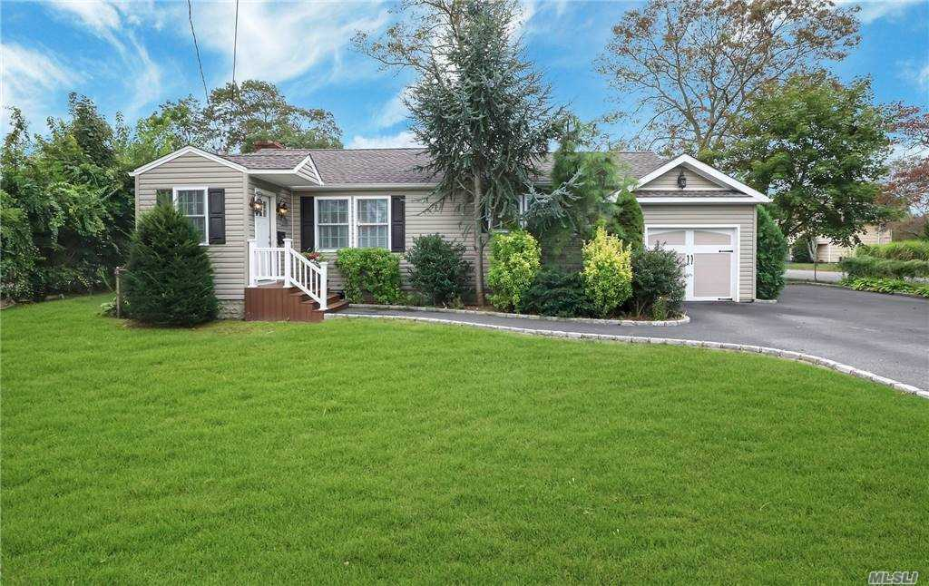 Spectacular Renovated Ranch in North Babylon on 95' x 88' Parcel with 1,068 SF and 206 SF Bsmt. Entry Foyer w/Dbl Closet, Living Rm, Dining Rm, Eat-in-Kitchen, MBR w/MBth, 2nd Bedroom, Full Bath, Laundry Area, and Finished Basement. Cathedral Ceilings, Hi Hats, Ceiling Fans, Oak Floors, 2 Skylights, 3 Air Conditioners, Oil Hot Water Heat, and Inground Sprinklers. Furniture Available for Sale.