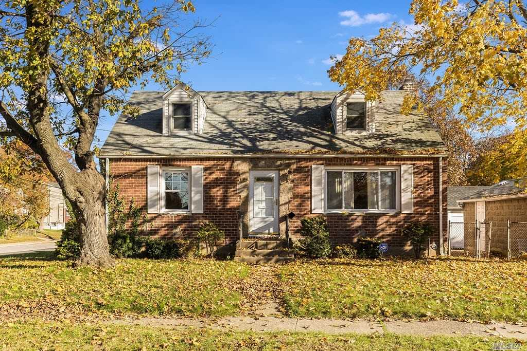Location, location, location! Brick/Vinyl 6 Room Cape in desirable Valley Stream SD#13 near High School & Jr High School, 1/2  mile to SS Parkway, and 3/4 mile to LIRR. Primary Bedroom on the main level plus additional 2 bedrooms, 1.5 baths, 1 car detached garage. Hardwood floors main level and part of the 2nd floor. The open layout basement provides flexible use. Built 1949, 1,260 sq ft plus basement.