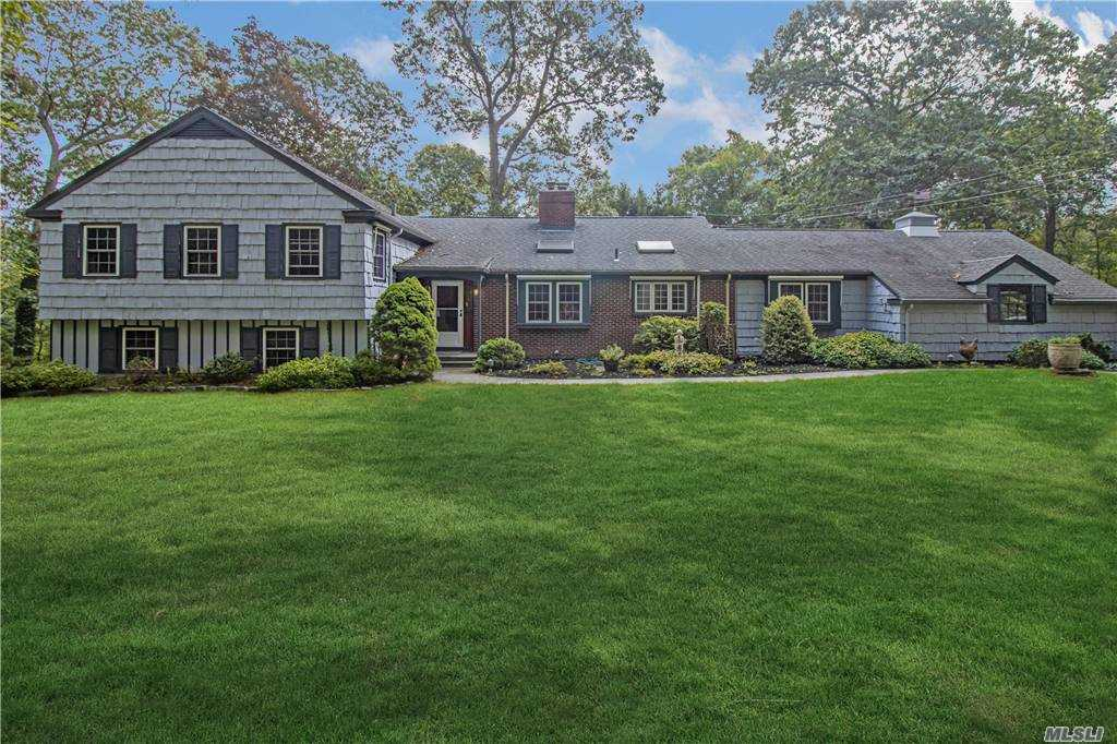 Welcome to This Lovely Country Home Located in Beautiful Head of The Harbor Stony Brook. This Well Maintained  5 Bedroom, 3 Bathroom Split Level Ranch also has  Ample Room For Entertaining Inside and Out. Situated on 2 Acres of Lush Property . This Home Features 2 Fireplaces, 5 Skylights and 2 Family/Entertaining Rooms, Master Bedroom with a Master Bathroom. A  Stunning  25 X 50 Built In Swimming Pool with a Large Deck with  Room to Entertain As Well.
