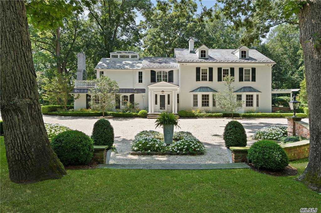 Red Oaks is One of a Kind Bucolic 3BR Estate. All principal Rooms with Park Views- most with French Doors. Conservatory vaulted all-glass Family Room w/Gourmet Eat-In Kitchen. Specimen Plantings w/ Rose accented Arbor complements Cedar Shingle 1BR designer Cottage. Enormous vaulted Multi-room Pool House/garage complex. Pool with elec. cover and Spa. Slate patios and terraces surround the main house and pool leading to manicured boxwood and fountain gardens.