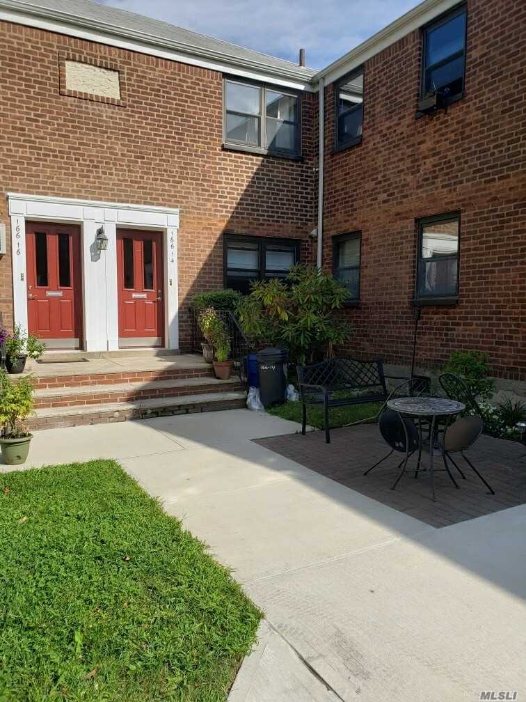 Beautifully renovated 1st floor unit in quiet courtyard setting.  Bright and spacious unit with new kitchen, new bathroom, new hardwood floors and large bedroom with California Closet.  Very convenient location, close to shops, schools, park, Q16 to Flushing, QM2 and QM20 to Manhattan.  No sublease, no dogs only cat allowed.  Move in condition, must see!