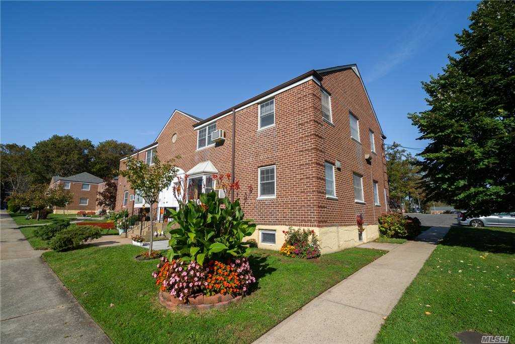 First Floor Corner Unit with 3 Bedrooms and 1 Bath, Lots of Sun Exposure.  No Flip Tax. Maintenance includes all Utilities, Taxes, and 2 parking stickers. Cats Allowed. School District #26. Convenient To Express Bus, Long Island Railroad And Highways. Priced To Sell!