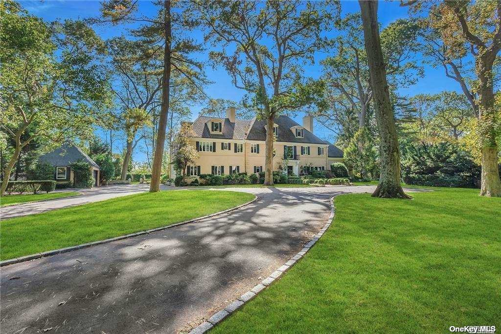Magnificent Sands Point estate with expansive vistas of the Long Island Sound and chic and sophisticated interiors. The stunning approach showcases the 2.7 acres of beautifully manicured property to reveal this incredibly special home. This exceptional residence offers everything you need and with details you'll love: double height entry , formal dining with Venetian plaster walls, living room with fireplace opening to bar room, sunroom and outdoor patio, updated gourmet EIK with Thermador appliance suite, 2 dishwashers and den, generous primary suite with fireplace and enviable walk-in closet, home office, gym and more. Outdoor oasis with in-ground pool and multiple entertaining patios. Private. Modern. Impressive.