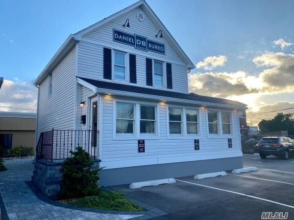 Beautifully Renovated 2-Story Office Building with 1,500 Square Feet. Enter into Enclosed Porch, and then into building with 2 Large Offices, Kitchenette, and Half Bath.  The 2nd floor has 3 Private Offices. Dry Basement for Storage.  2-Zone Gas Hot Air Heat and CAC Installed in 2018. 10 Dedicated Parking Spaces Plus Village of Lindenhurst Municipal Parking Right Across the Street.  Walking Distance to LIRR.  Monthly Rent is $2,500 ($20/sf) and Tenant Pays Utilities.