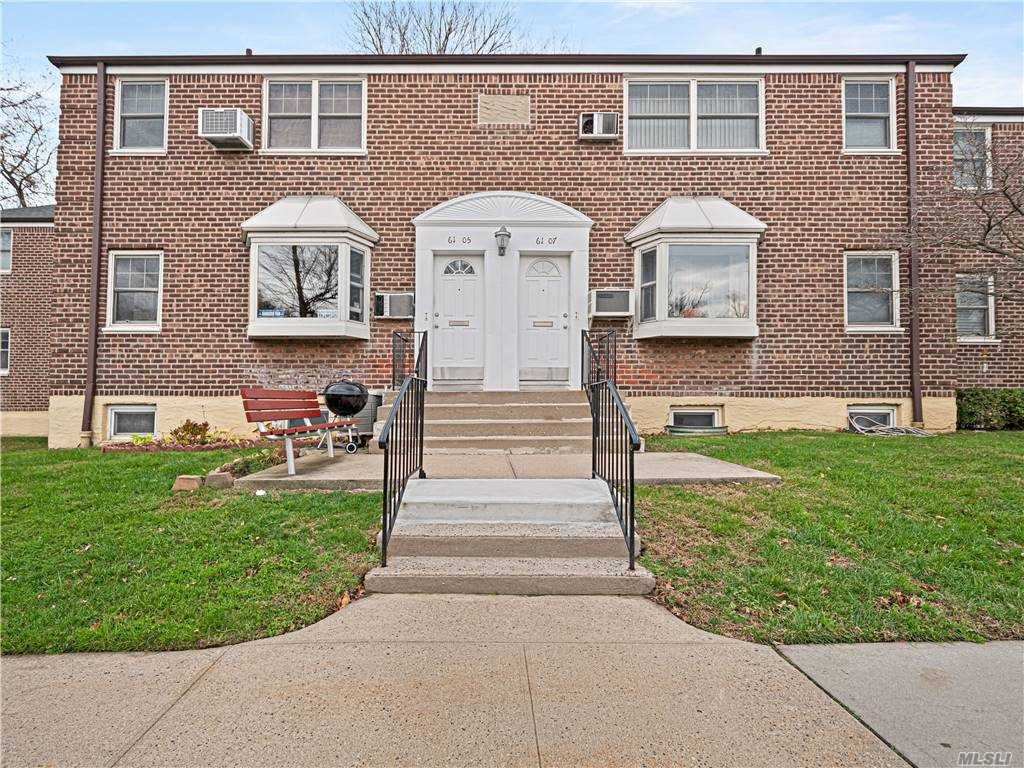 Excellent opportunity to own a 1 bedroom, 1 bathroom co-op unit on the 1st floor in Deepdale Gardens. Maintenance includes all utilities including one large A/C and washing machine. Exterior maintenance by management office, snow removal& ground care. Two parking stickers included. Washer/Dryer permitted in the unit.  Excellent school district 26. Walking distance to shops, parks, supermarkets, library and public transportation with the express bus to Manhattan 2 blocks away, 7 min drive to LIRR.