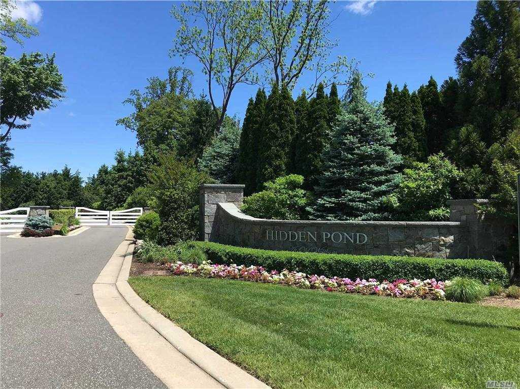 Preconstruction.  Land Sale + New Construction Packages from $4,495,000.  Spectacular 2.1 Acres Of Flat Land At End Of Cul-De-Sac in Luxury Gated Community Of Hidden Pond.  Old Westbury/Jericho Schools.