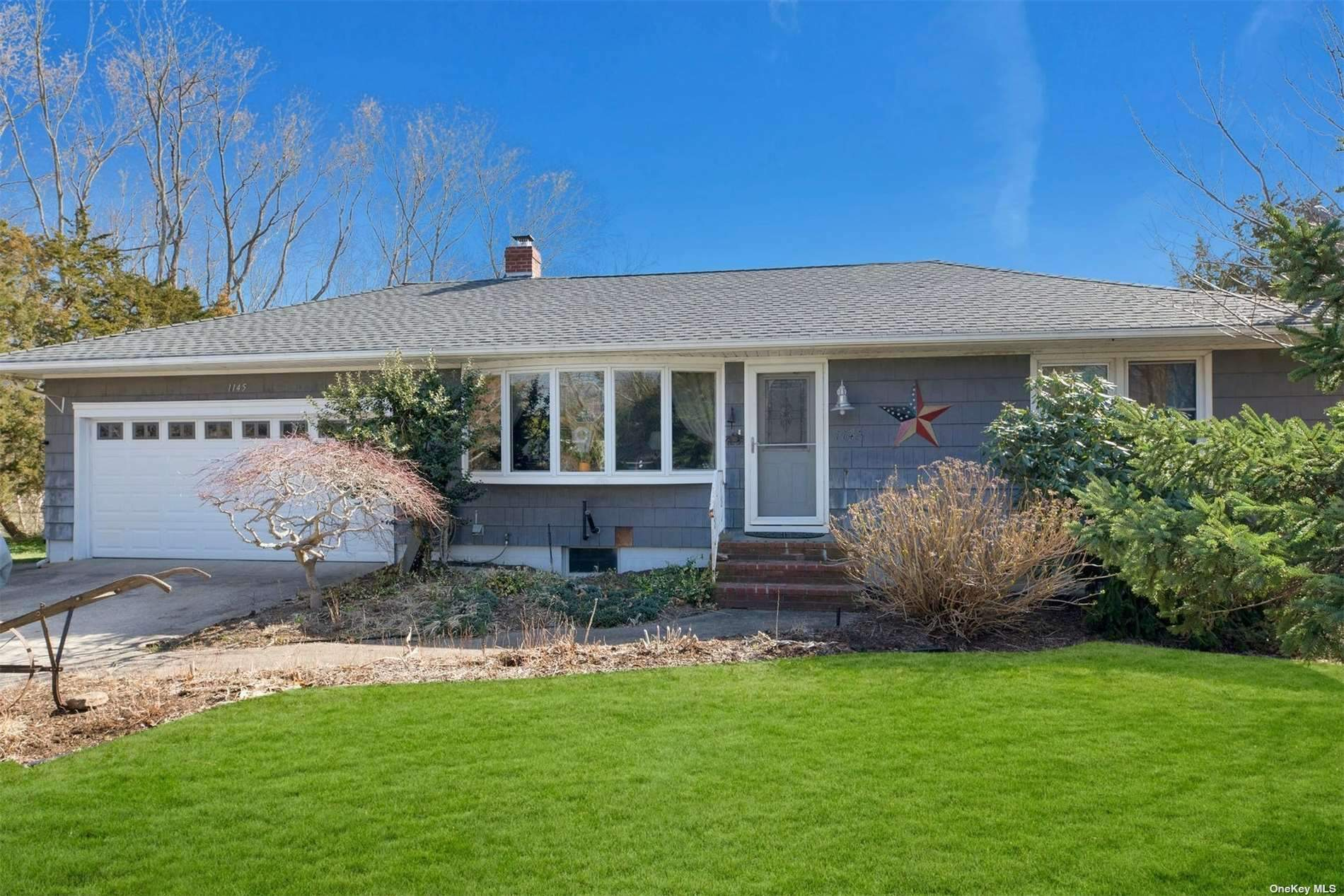 Comfortable Ranch Home with Useable Walkout Basement in Desirable Laughing Waters Association with Community Bay Beach, Boat Ramp, Kayak Stations and Docking.  Close to Two Bay Beaches as Well as Special Privileges at Southold Parks District Beaches.  Room for Pool with Proper Permits.
