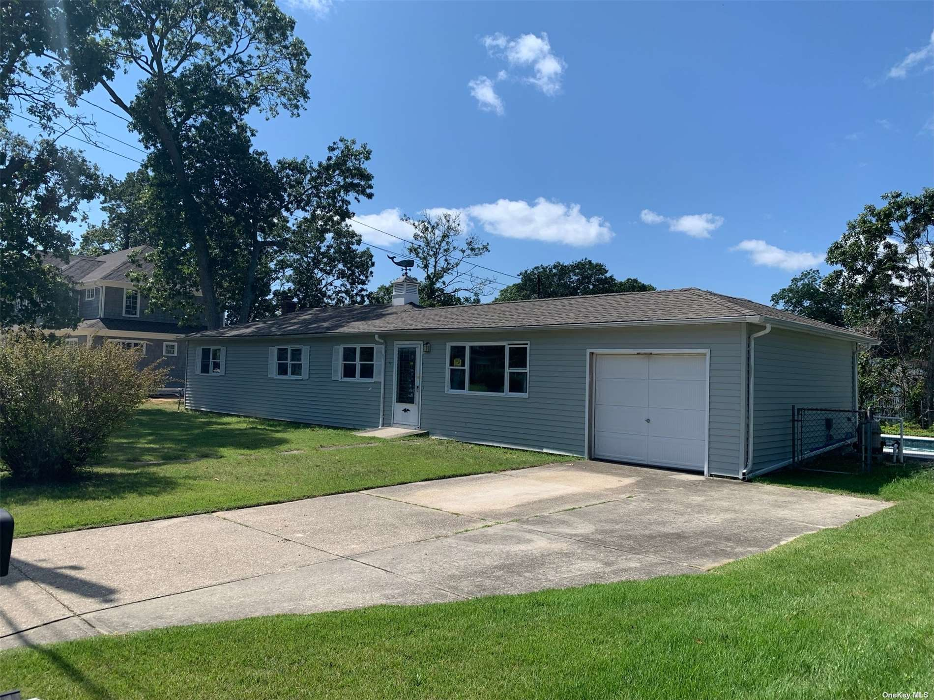 Larger then normal lot in Shinnecock Shores. House needs total renovation and needs new bulkhead, quote and survey attached. Pool is opened and running with a new liner and piping.