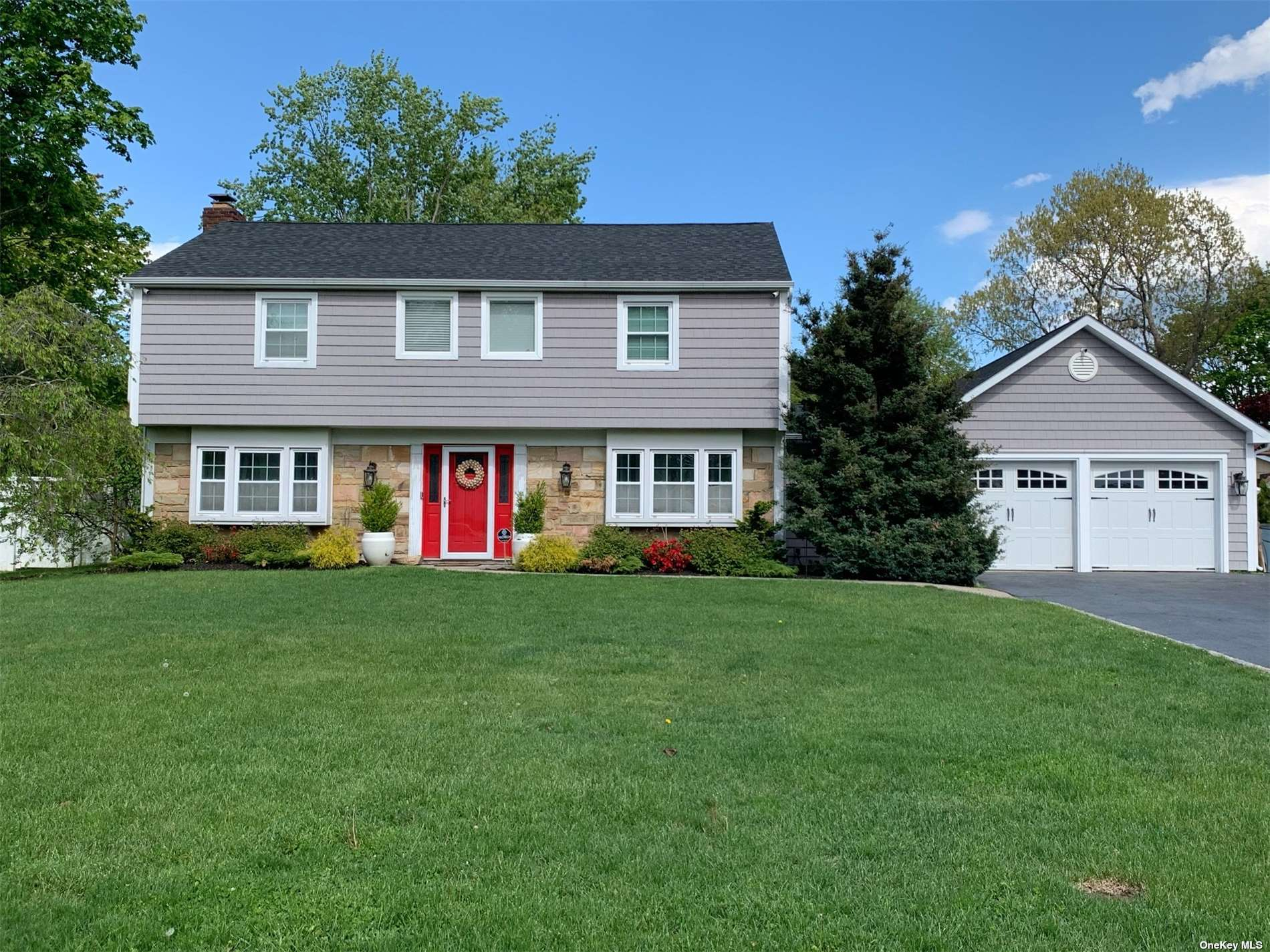 Beautifully Renovated in 2018 Colonial Home in the THREE VILLAGE SCHOOL DISTRICT with 2,900 Sq Ft Plus a 2-Car Attached Garage with Large Attic. Foyer, Living Room, Formal Dining Room, Eat-in-Kitchen with 9'x5' Island, Viking 8-Burner Gas Stove w/Dbl Oven, Viking DW, Jenn-Aire Refrigerator & 2-Door Wine Cooler Family Room & Half Bath on 1st Floor. 2nd Floor has Master Bedroom with Master Bath, 3 More Bedrooms and Full Bath. Large Pie-Shaped .42 Acre Property. 2-Zone Gas Hot Air Heat, Central Air & IGS. All New From 2018: Roof, Electric Panel & Wiring, Siding, Flooring, Plumbing, Hot Water Heater, Gas Boiler. Large Attic Above Garage. Plans for Inground Pool Have Been Submitted to the Town; Waiting Approval. Please Review the Attached Highlight Sheet.