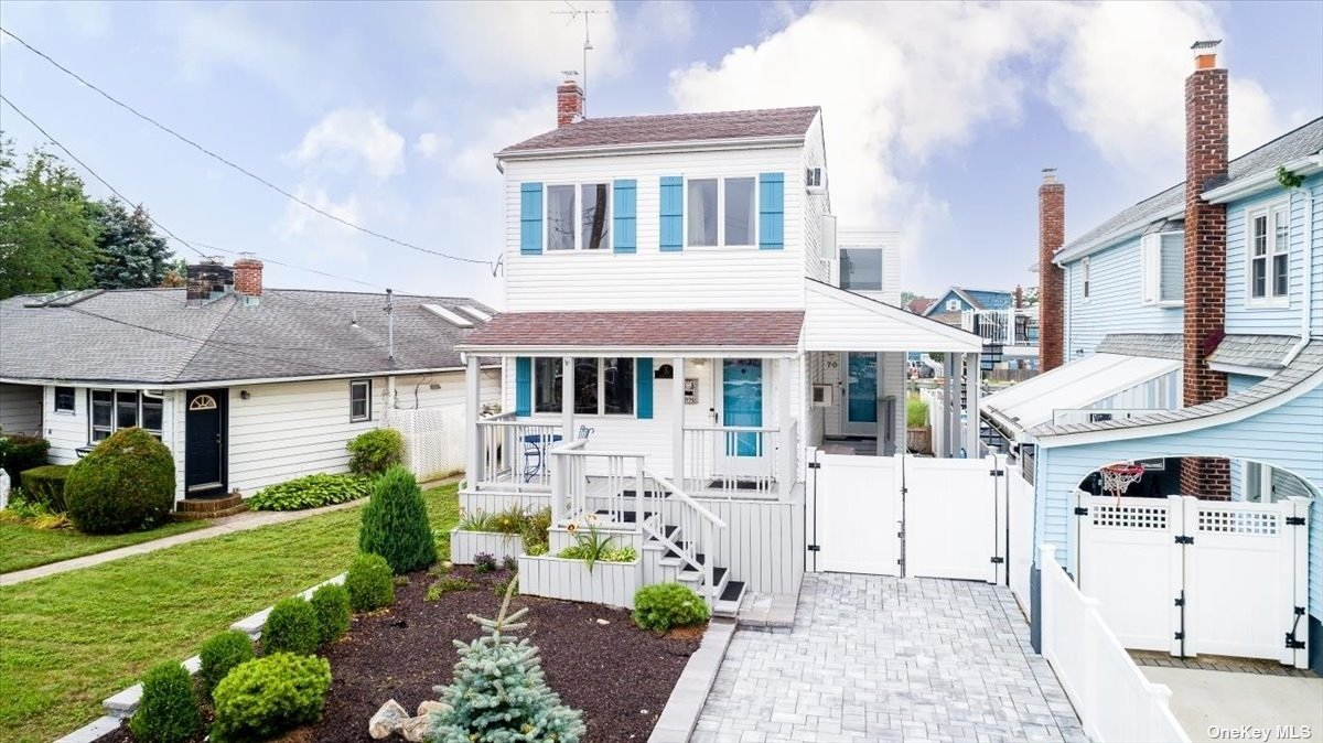 This is your chance to live on the water in the Mandalay section of Wantagh. This coastal contemporary waterfront home features an open floor plan, cathedral ceilings, and a completely renovated kitchen. Full basement with plenty of storage and a new washer and dryer. Brand new pavers will bring you to an updated yard that features a 50 foot bulkhead with a new floating dock on a wide canal that is every boaters dream. Close to public transportation, highways, parks and minutes from Jones beach. Wantagh schools. Flood insurance around $700 a year.