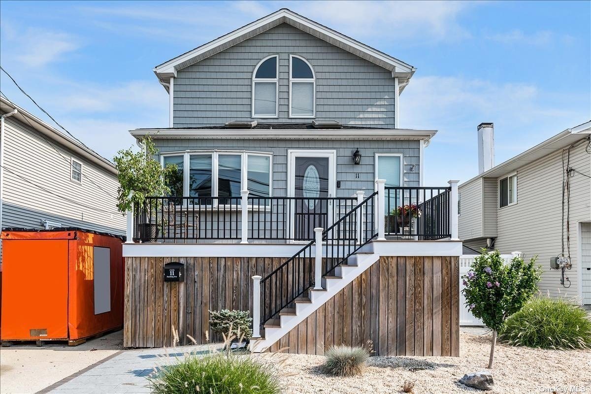 Fully Renovated 2/3 Bedroom Waterfront Colonial In Babylon For $599,000. Home Has Been Raised & Has A Wonderful Location On A Deep Wide Canal With Recently Redone Bulkhead. 2nd Floor Dormer Added In 2017 With Walk In Closets & Has An Open Floor Plan on 1st Floor. Boasting Vaulted Ceilings, Sky Lights, Central Air, Updated Electric, Gas Heating & Cooking & More. Wake Up Sipping Your Morning Coffee On The Trex Deck Overlooking The Water & Dock! Move Right In!