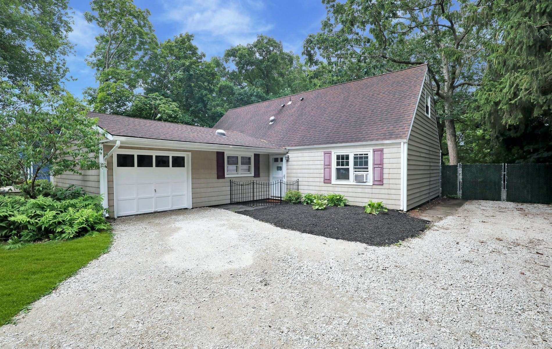 Rare Opportunity to Buy a Home & Keep Horses! Located on Dead End Street in the North Great River Subdivision that Leads Into Connetquot River State Park Preserve. Lovely Farm Ranch with 1,896 SF on an 80' x 300' Fenced Parcel with Stable for Your Horse with Water and Electric. Enter Front Door Into Living Room Which Connects with Dining Room, Eat-in-Kitchen with Laundry Area & French Doors to Backyard Patio, Den with Tunnel Skylight & Entry Into 1-Car Attached Garage with 150 Amp Electric, Boiler Area with Oil Tank, Master Bedroom with 1/2 Bath, 2 More Bedrooms & Full Bath with Tub & Tunnel Skylight. Full Staircase to Easily Finished Unfinished Attic with High Ceiling, Full Size Windows & 2 Operable Skylights so it Can Easily Be Finished Into Living Space. 8-Year Old Architectural Roof.