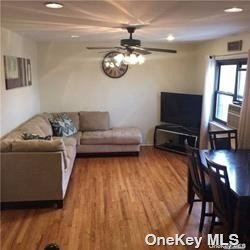 2 BR Garden Apartment in prime location! Walk up unit, with huge window in kitchen/island. Hardwood floors, stainless steel appliances and granite countertops. Pets allowed! Laundry available for Windsor Oaks owners and tenants. 2 car decals come with property. Close to transportation, Alley Pond Park, schools and more!