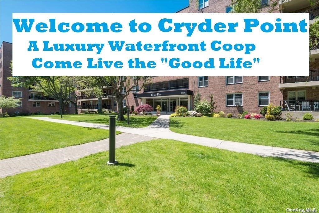 """Welcome to Cryder Point~ NE Queens Hidden Gem. Situated on acres of lush green waterfront property, this 24 hour doorman building has it all!  Panoramic tranquil views await you when you enter in this """"palatial"""" highly renovated 2 bedroom/1.5 bath. """"Decorators Delight"""" with high end finishes throughout. With an abundance of closets and a 'SPLIT HVAC SYSTEM"""" this unit is in a league of it's own! Enjoy the waterfront setting from your oversized Terrace and a top location with express bus to city (QM2)/flushing &(Q15)right outside your door. Conveniently located to shopping, restaurants and easy access to major highways. Fishing dock and promenade and a private play area for the residents and a short distance to parks add to the appeal of one of Queens most sough out cooperatives. The list goes on and on!!.Come see why so many are thrilled to call Cryder Point their home."""