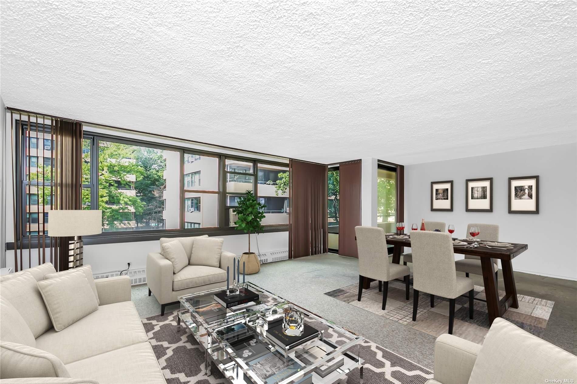 Sun drenched apt with updated kitchen with granite counter tops. Updated bath.  Corner unit with large terrace. Prime parking space  R15 included in sale 8,500 savings...Don't miss this great opportunity.  Lehavre offers clubhouse with gym and 3 tennis courts, 2outdoor pools.