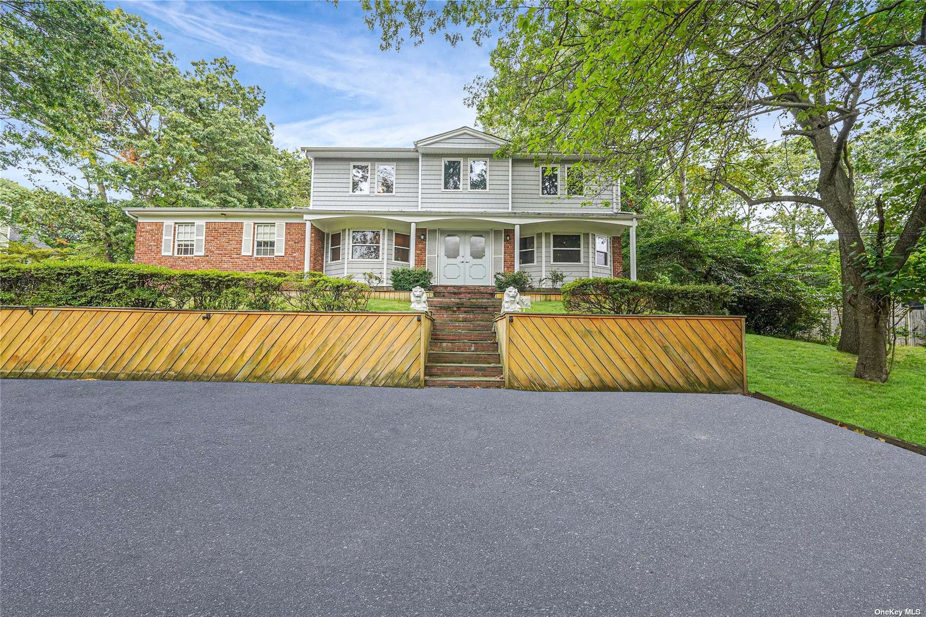 Beautiful Brick Front Colonial Located In Smithtown Pines! Nestled On 1.23 Acres. Complete with 4 Bedrooms, 2.5 Baths, Full Unfinished Basement + 2 Car Garage. Boasting Nearly 3,000 Sq Ft. Featuring An Open Floor Plan, Hardwood Floors, Renovated Bathrooms, Brand New Vinyl Siding, Hi-Hats, Freshly Painted + Plenty of Upgrades. Spacious Kitchen with Stainless Steel Vent & Appliances. All Spacious Bedrooms. Primary Suite Has Walk In Closets. Boiler & Hot Water Heater Only 2 Years Young, Sub Panel For Generator, Central Vac, Whole House Fan. Hauppauge Schools. Close Proximity To Blydenburgh Park, Northern State Parkway, Sunken Meadow Parkway, Long Island Expressway, Route 25A & All Major Shops. This Home Truly Has It All!! Make An Appointment To See All 45 Grandview Has To Offer!!