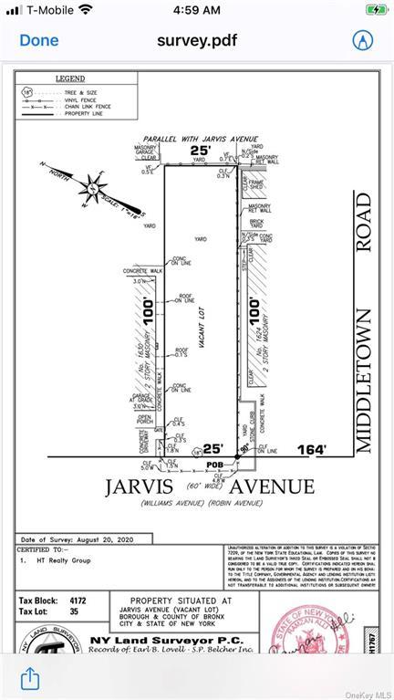 Land Jarvis Avenue  Bronx, NY 10461, MLS-H6010445-2