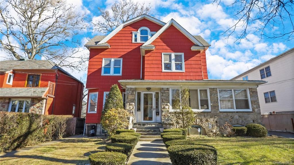 Great over-sized 2 family house in Fleetwood area of Mt. Vernon. Walk to Fleetwood Train Station. Close to major highways & shopping. Off-street parking for 1 vehicle in the driveway. All spacious & large rooms: Eat in Kitchen, Dining Room, Living Room & Bedrooms. Classic original architecture. Unit #1 includes: LR, EIK, DR, 4 BR's, 1 Full Bath & 1 half bath on the 1st & 2nd Fl. Unit #1 also includes the basement: Studio w/bathroom, refrigerator & stove. Unit #2 is on the 3rd floor: 2BRs, K, LR/DR combination, WIC, & Bathroom. Nice condition. Outside deck & spatio-great for entertaining. Apartment in excellent condition. Pride of ownership shows. Come quickly-this will sell quickly.