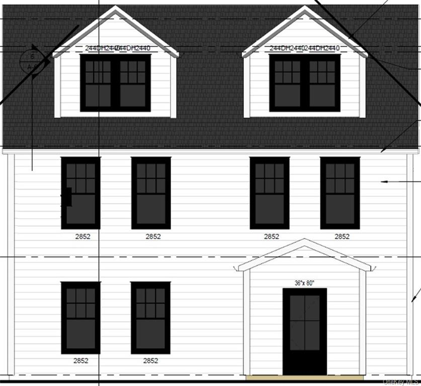 Rendering of front of house.