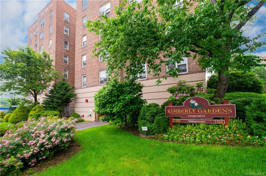 A/O contracts signed on one side ..:You will fall in love with this cheerful and sunlit nicely renovated spacious one bedroom with private Balcony in sought after pet-friendly Kimberly Gardens.  Features beautiful open kitchen (wall was taken down) layout with stainless appliances and Xtra Long granite counter (space was extended) and tiled backsplash.  Hardwood floors were redone, recessed lighting and all outlets replaced, crown and baseboard molding, All new:  Balcony door, BR closets  plumbing, and windows.  Electrical Box being replaced mid-November.  Assigned parking for outside is $65/month/garage indoor is $85 per month.  Waitlist for both.  The co-op also has parking spaces available across the street in the Sears parking lot for $25/month (currently waitlist).  The assessment fee ($238.42) is (for new roof, exterior fa  ade work, walkways and fire escape work) that started in October 2019 and ends in October 2024.  Monthly maintenance does not reflect the Star Program.  2 Pets permitted.  Either 2 dogs Maximum 30 lbs or 2 cats.  Centrally located -right across the street from Cross County Shopping Center and just a short walk to Metro North RR (25 min. to NYC), Shopping, Eateries, Movies.  Close to all major highways.