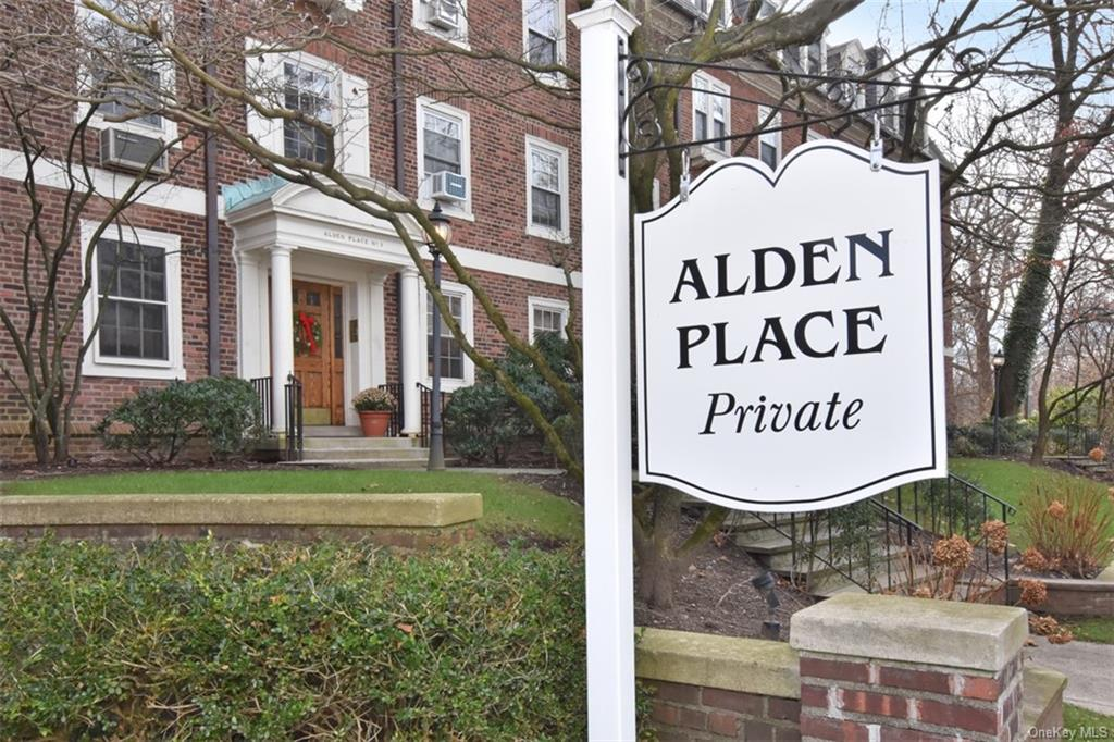Enter Private Alden Place Roadway to Garden Complex at back overlooking lovely wooded Park area.