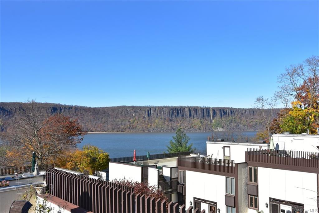Unobstructed views of the Hudson River and the Palisades.