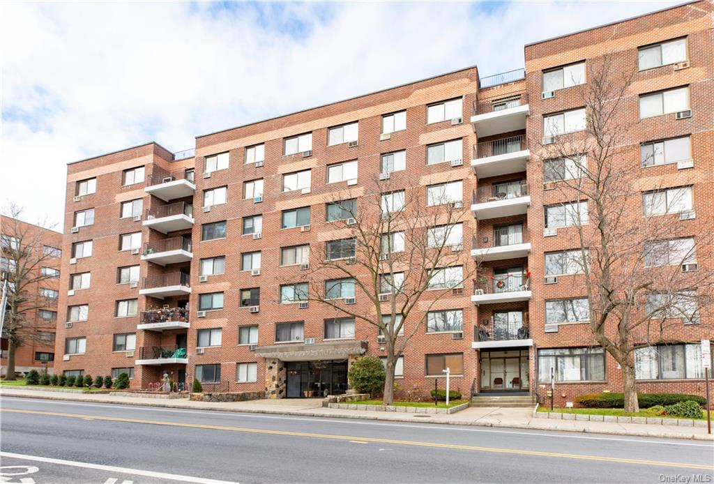 Location Location!! Don't miss a great opportunity to own see this wonderful sun-lit top floor one bedroom apt. in the desirable Regency Park in the heart of vibrant downtown White Plains.  Well  maintained unit with great views features updated kitchen, hardwood parquet floors, ample closets.  Convenient and close to everything.  Laundry on 3rd and 6th floor.  Assigned parking space at closing ($50.00 outdoor).  Wait list for indoor ($60.00).  Monthly maintenance does not include Basic Star credit of $126.96 which new owners must apply for. Cats are permitted with written request and Board approval.  Conveniently located and close by lovely serene Harvey Turnure Park, Metro north RR, Bus, Shopping, Restaurants, City Center, Westchester Mall, Nightlife.  Easy access to highways.  Cable ready/Fios ready.  Seller is selling: Table and Chairs from Italy $2,000 and Carpets $200 each.