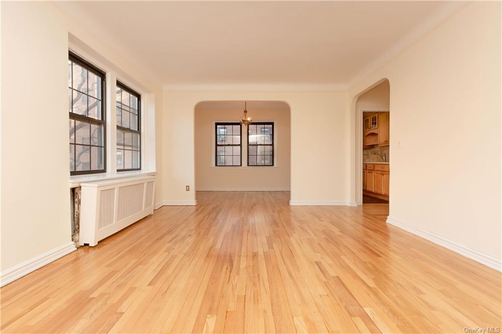 The apartment you have been waiting for at the Charming pre-war Scarsdale Manor. This oversized one bedroom boasts hardwood floors throughout, abundant closet space, and a formal dining area. Sunlight pours into this apartment and is only an 8 minute walk to the Scarsdale Metro North (33 mins to Grand Central Station). ALL utilities included in the monthly maintenance. Garth Road parking is FREE with permit from the town of Eastchester.