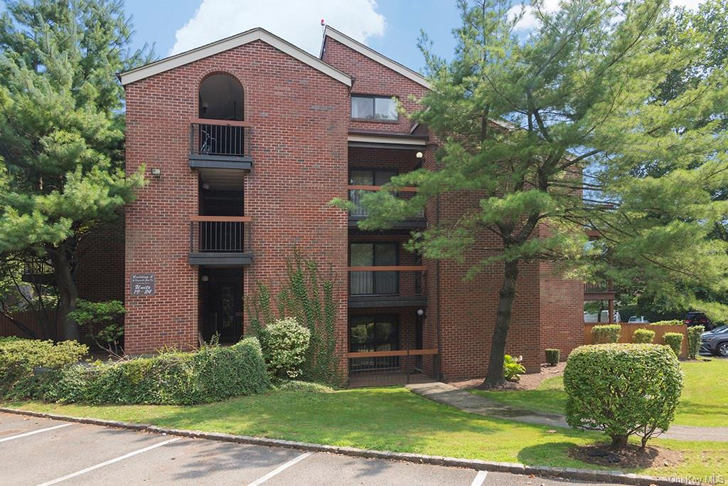 Private Upper floor condo apartment in sought after Bronxville Glen 24-7 gated community.  Just painted and nicely maintained two bedroom unit plus loft space for den/bedroom.  Very spacious unit with spiral staircase to loft and huge storage attic and Bathroom. Eat in kitchen, dining room, over-sized living room with sliding glass door to balcony.  Master bedroom with full bathroom, second bedroom, hall full bath, and laundry in unit.  Central air conditioning, abundant closets, cathedral ceiling. Assigned Parking space. Close to all buses, metro north RR, Shopping Mall, local shops, dining and major highways.  Enjoy Beautiful outdoor pool.