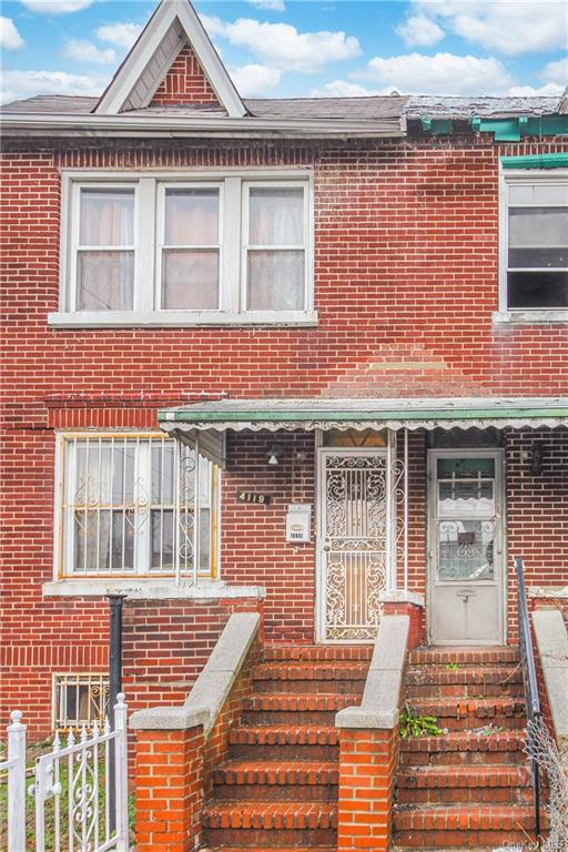"""Welcome home to 4119 Paulding Avenue. Semi attached,  hardwood floors as seen, Entry foyer. First floor Sun filled living room, formal dining room, Basement is semi finished. Needs TLC and sold """"as is """".    House features 1 car garage, Back yard and back porch."""