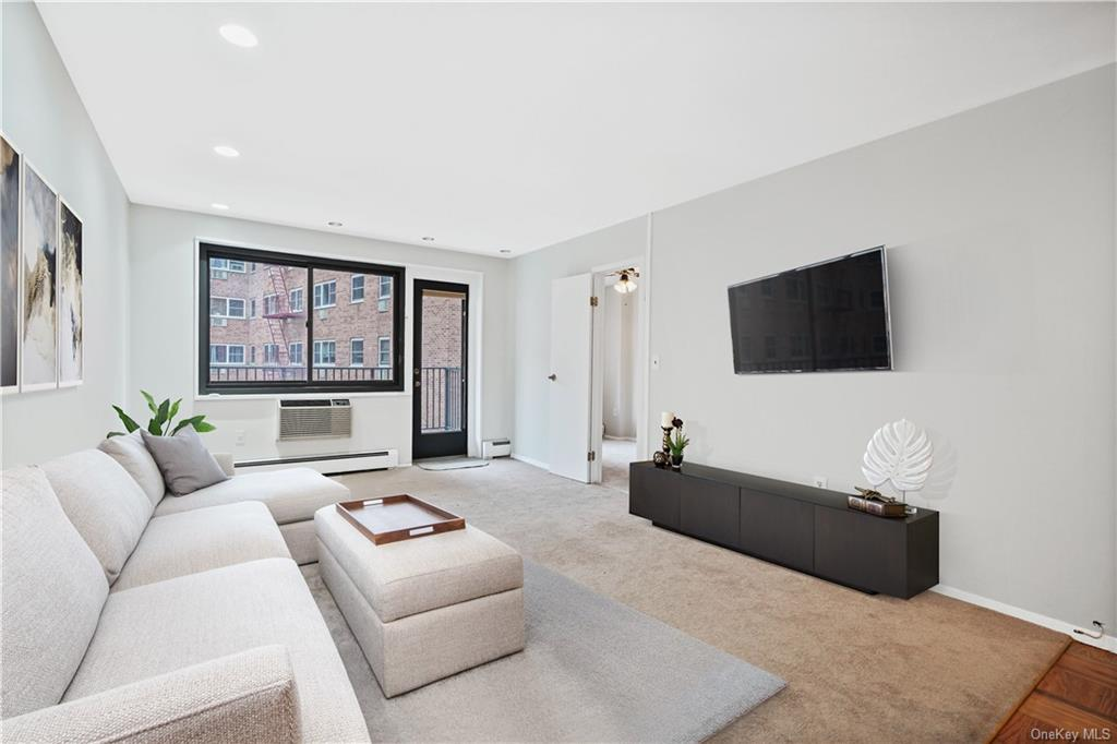 Light and Bright Spacious Living Room virtually staged