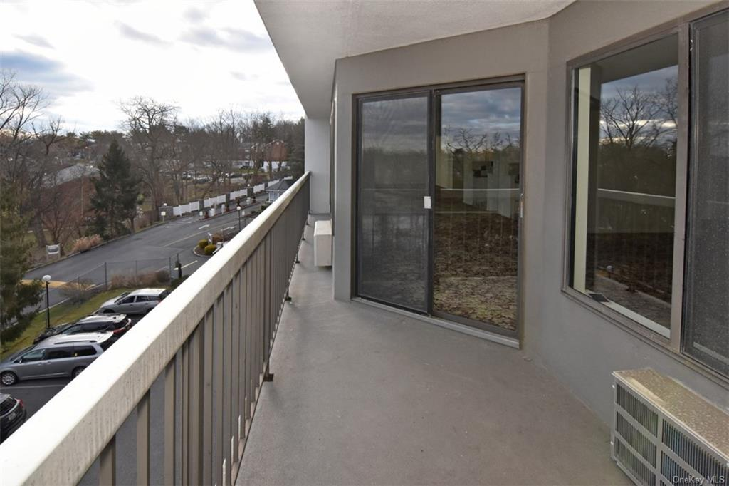 Another view from the terrace with sliding glass door to living room.