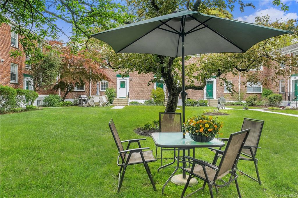 This could be your summertime outdoor relaxing and dining space!