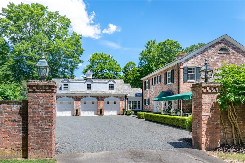 """First time on market in 60 years! """"The Viola House"""" -  romantic, circa 1933 colonial revival style home designed by a prominent architect and located on 8.2 acres (two lots), with secondary access (road cut in) off Coe St/Grist Mill in rear. Perfect, private, estate like compound with two homes, large separate 3 car garage with finished second floor, perfect for home/remote office, 2 spring fed ponds, 2waterfalls in addition to the Mahwah River that runs through the property and surrounded by mature trees and bucolic landscaping. Subdivision could likely yield 4 to 5 lots total (includes 2 existing dwellings) in an exclusive setting. The Viola House was designed by A. Durant Sneden, a Beaux Art trained architect in Paris, who was appointed by NYS to design neo-classical style schools throughout the state in the 1920's and 30's, and privately designed banks and other municipal buildings. This home is a gem and was custom designed for A.H. Schroeder, Esq., a NYC attorney, seeking a country home outside NYC, at a time when Ramapo was really the country!  However, the property still maintains a rural feeling. The main home features the finest materials with every detail built to the highest standards and has a classic European style design. Exterior is reminiscent of 18th century Williamsburg, VA homes and features a white washed brick facade, massive chimneys, 8 over 8 windows and 6 over 6 windows, fanlight windows, and white washed brick with bluestone gravel courtyard entry. Slate roof and cupola, many French doors and windows help to create the old style character of the home.  Its asymmetrical design incorporates the attached 3 car garage with gravel parking area.  Interior features include fine millwork throughout, sunken living room, period wood floors, built in book shelves, 3 wood burning fireplaces, charming den with open cedar cathedral ceiling, very large living and dining rooms, period baths and family room. Master bedroom suite, all 3 bedrooms have en suit"""