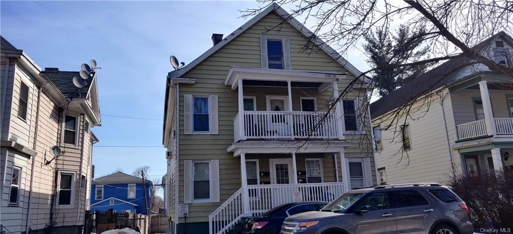 WELCOME INVESTORS! Looking for a great investment opportunity in Southside Poughkeepsie? Fully occupied 4 family house  features Three 2 beds units and one 1 bed unit. House has its own parking spaces for 4 cars. Month to Month tenants; No  lease. Cap rate at 7% but has great potential to increase the cap rate. All units are identical. Please do not go without any  appointment. Close to hospitals, major highways, famous colleges, parks, and schools. AS IS condition. Present your offers  today!