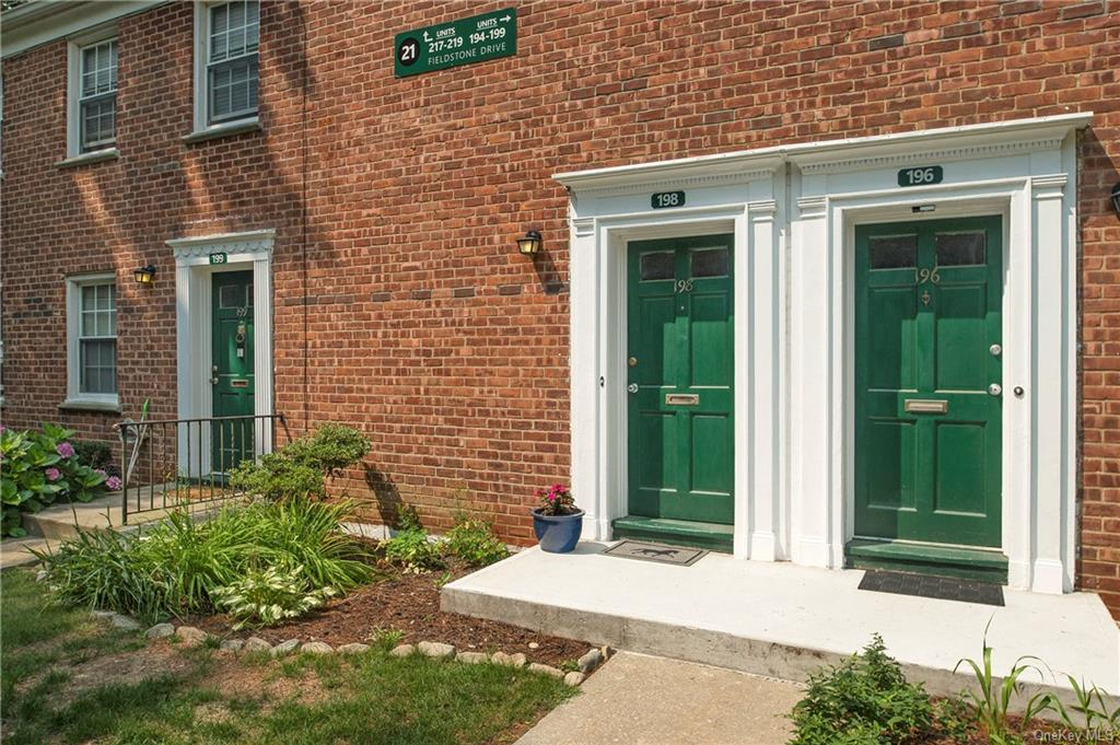 This terrific 2nd floor apartment has a private, entrance with garden/patio.
