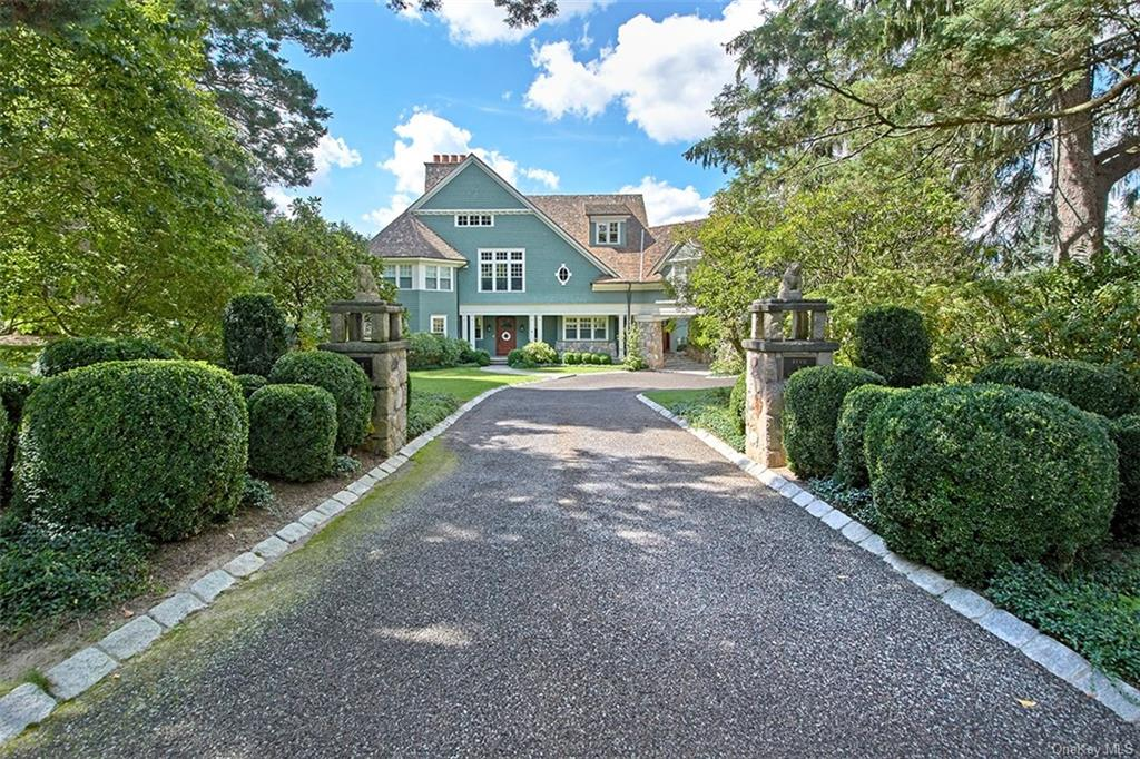 Magnificent, finely crafted modern Estate-style home on 2.52-acres on one of Chappaqua's most coveted streets just minutes to town, train and schools. Gorgeous grounds with an astounding array of specimen trees, flowering perennials & lush lawns framing delightful outdoor areas including fabulous in-ground Wagner pool & spa, level park like property, and expansive patios & terraces. Custom designed by esteemed architect, Ken Andersen, this 12,000-sf stone and shingle home, has been skillfully appointed w/exceptional finishes & top of the line materials. Sophisticated formal rooms; stunning Chef's kitchen w/breakfast room & adjoining family room; 1st level office; spacious bedrooms w/en suite baths highlighted by sumptuous primary suite; 4 fireplaces; 1500 bottle wine cellar; gym; theater; pool and spa; and more. Front & rear courtyard. Whole house generator and barbeque connected to natural gas. 4-car Garage w/room for 2 lifts (parking for 6-vehicles). A one of a kind offering!