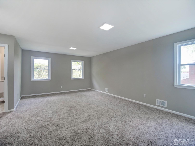 Master bedroom has 3 double closet plus a large linen closet. Plenty of natural light