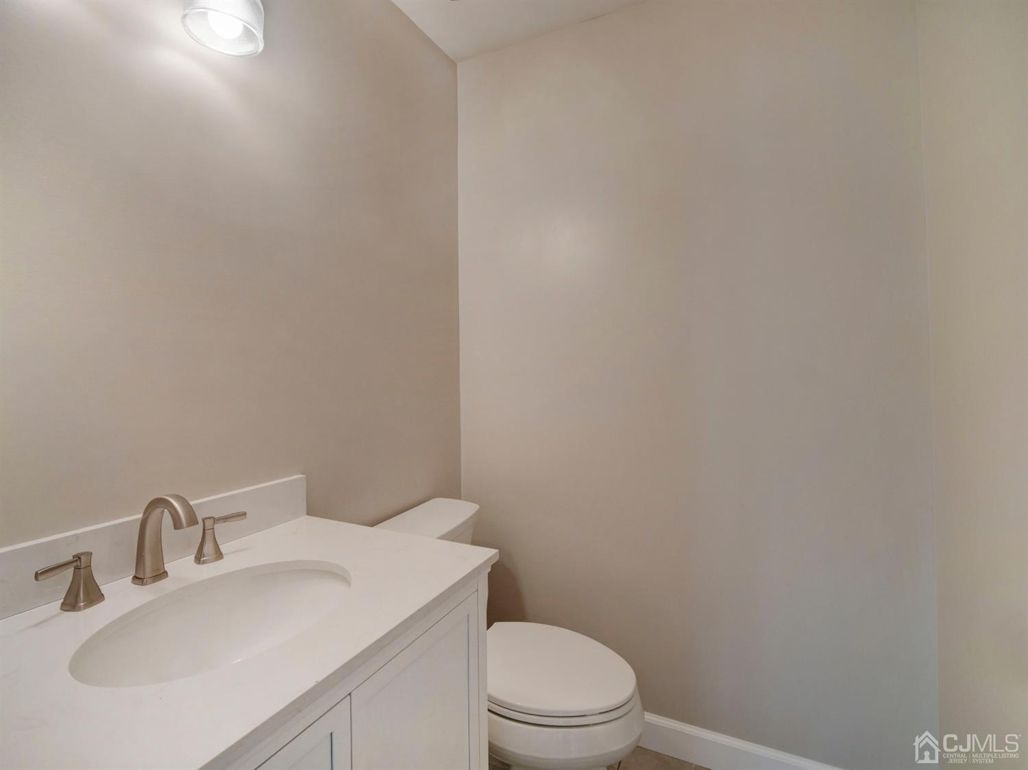 1/2 bath on 1st level with option to convert to a full bath