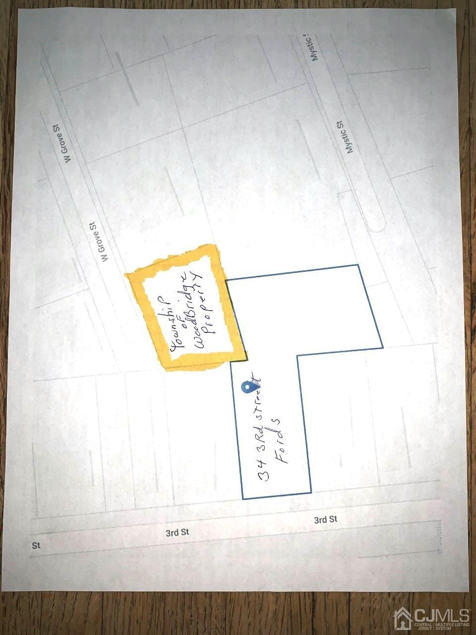 Tax map of Township of woodbridge Adjoining Property
