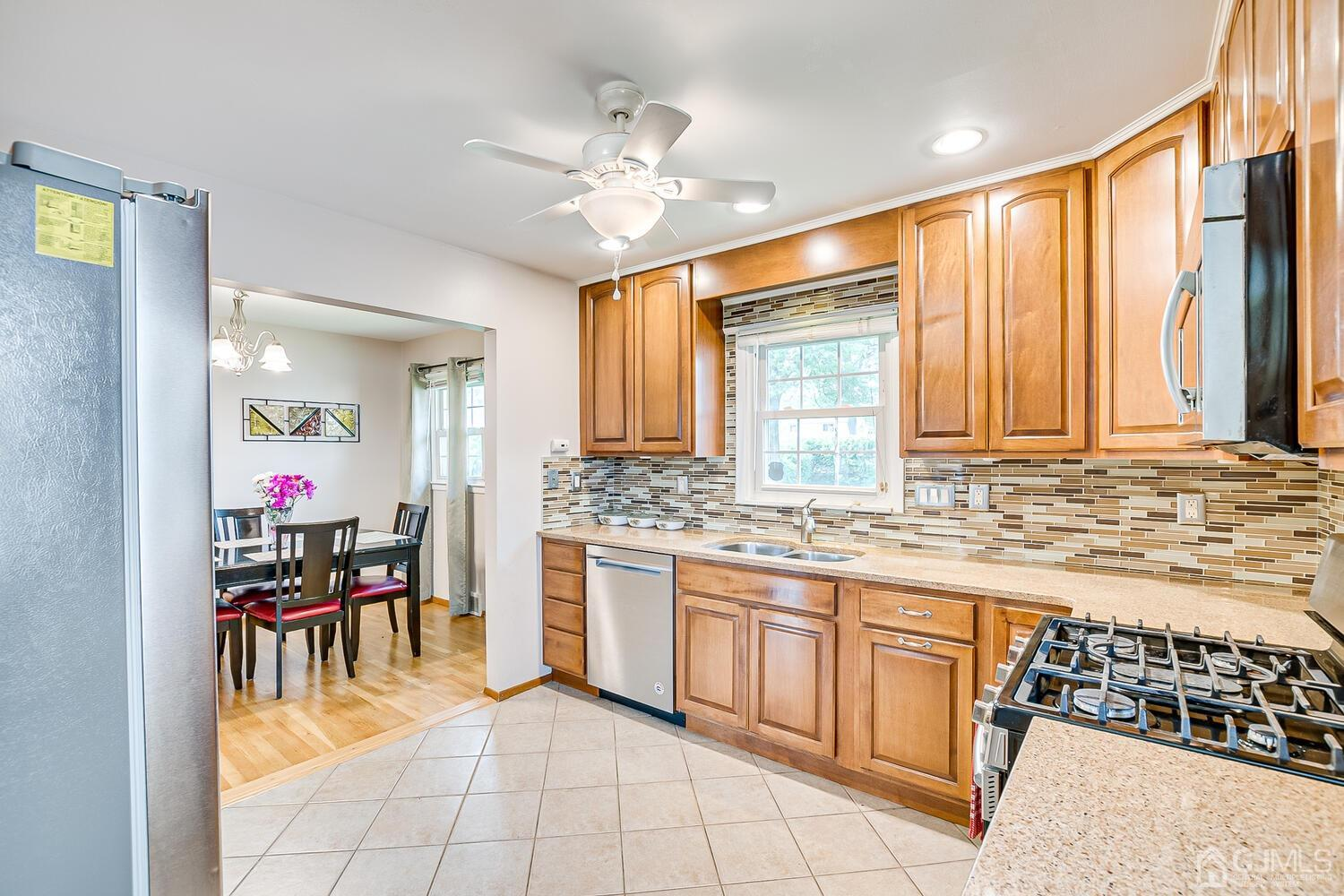 Open Floor Plan from Kitchen to Dining Room.