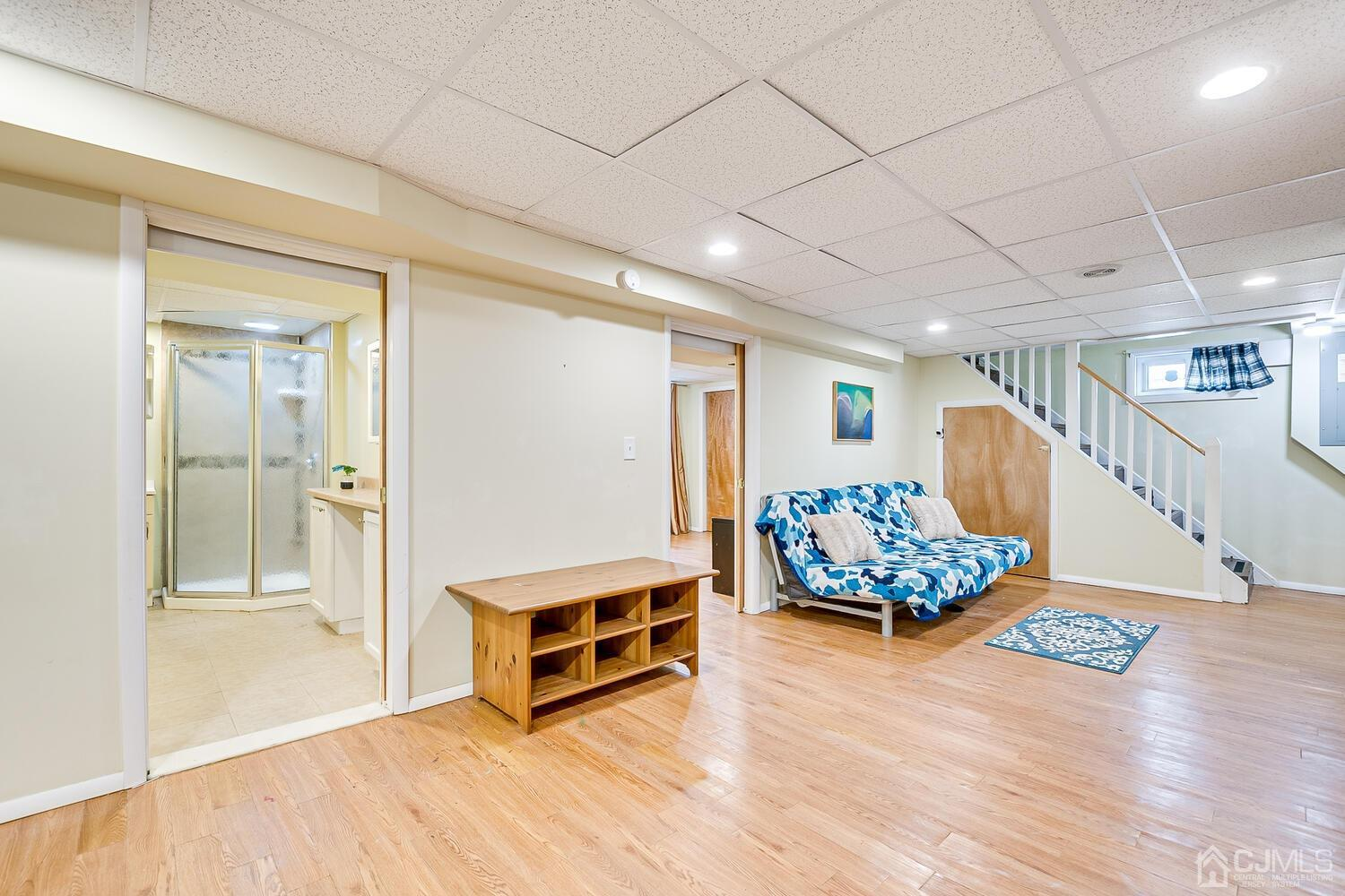 This View Shows door way to Full Updated Bath and to the right is that Large Room with double Closets.
