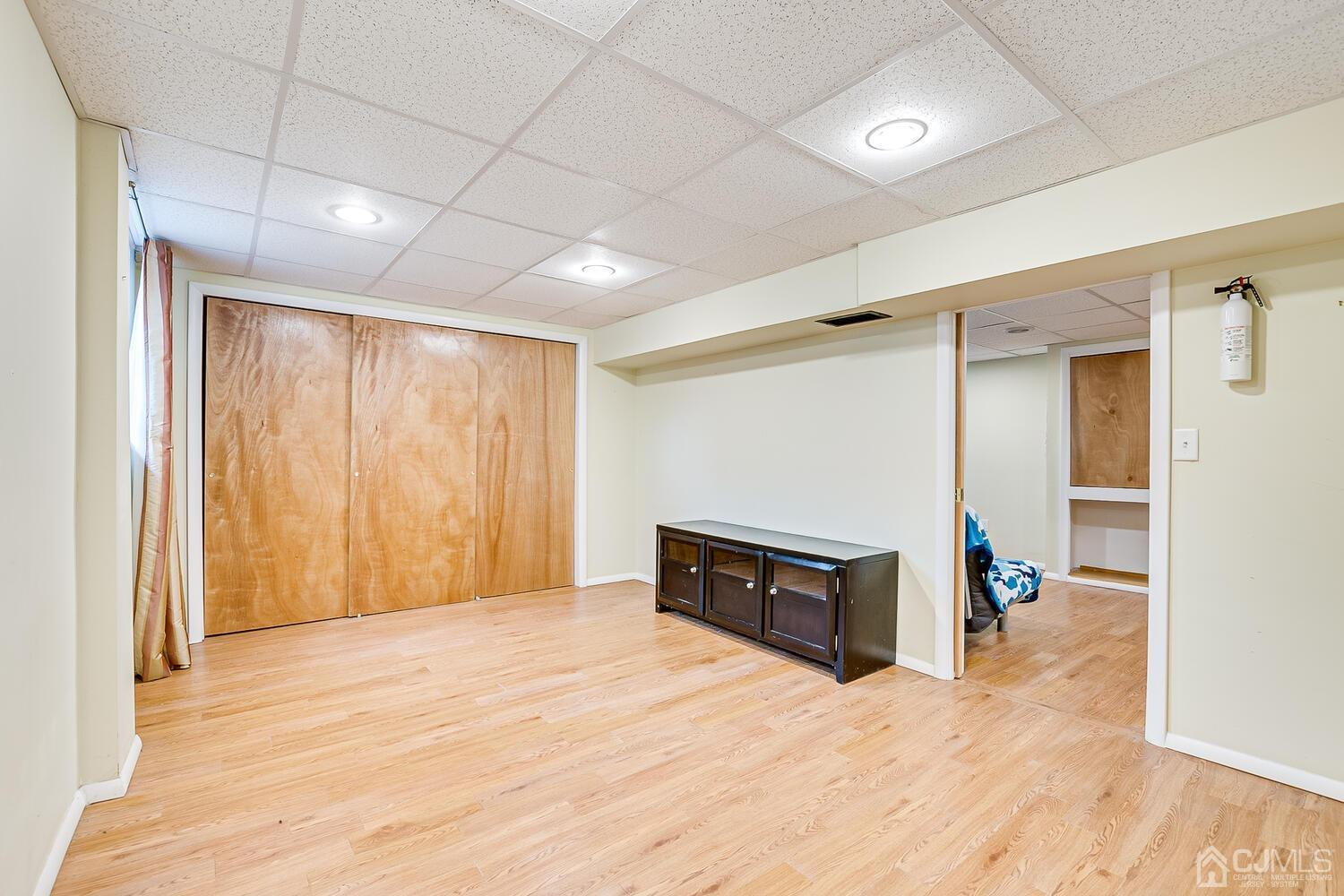 This is that Large Room with Double Closets and Recessed Lighting.