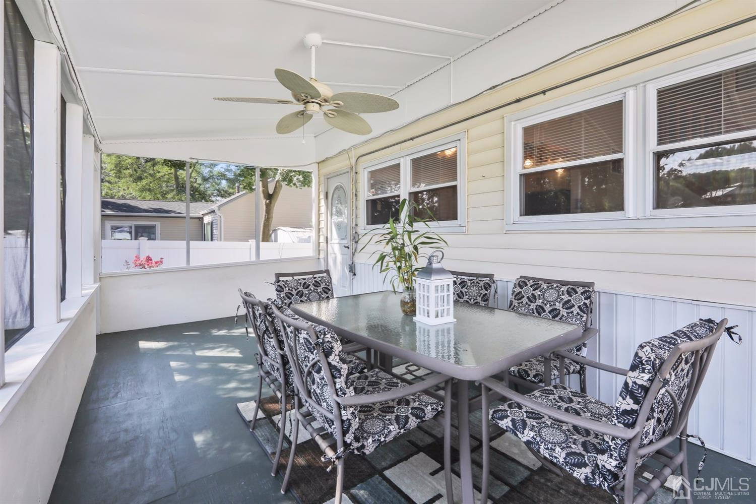 Another view of the Beautiful, enclosed porch