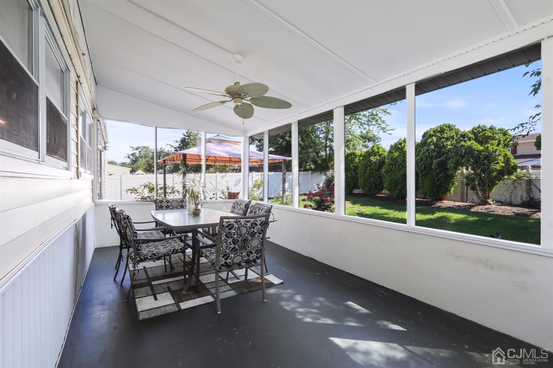 Beautiful, enclosed porch