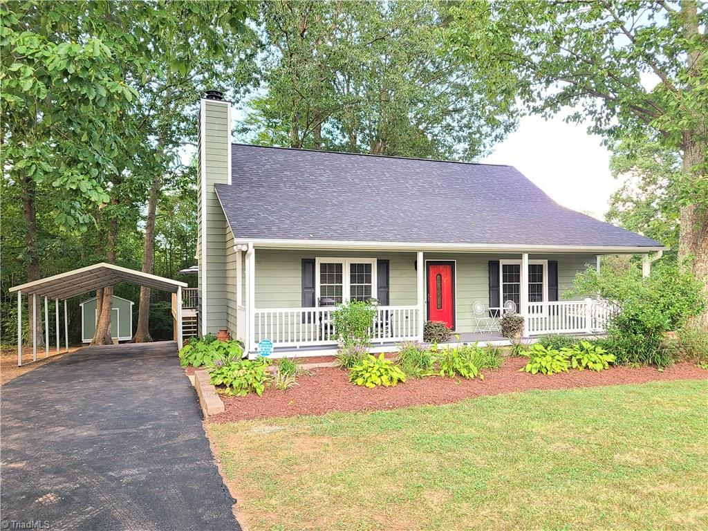 Back on the market at no fault of the seller. Well maintained 4 bedroom cape cod in Oak Pointe subdivision in King.Home is in move in condition with many recent updates including, New roof in 2018, insulated windows, new maintenance free front porch railings, paint in most of the home and stainless appliances.Home also boasts hardwood flooring throughout the main, master and 2nd bedroom on the main and the dining room opens up to a large deck for those family cook outs.A detached carport and storage building to match the home stay.This is a must see!