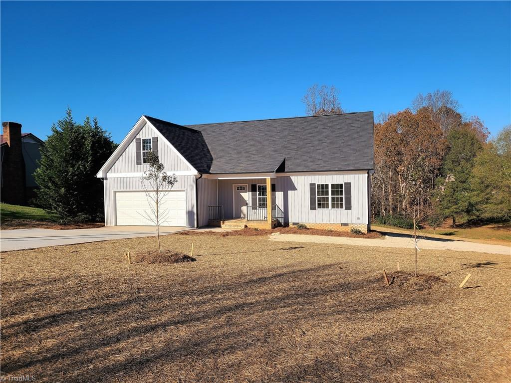 New construction in King.  3 bedroom/2 bath on the main, upper bonus with half bath and 2 car garage. Home is vinyl sided built on a crawl space with a total  sq footage of over 1750, Luxury vinyl tile in living areas with carpet in the bedrooms, granite counters in kitchen, stainless appliances, 12x12 deck, finished bonus room and concrete drive. Wonderful split bedroom floor plan with added sq. footage on the upper level in the bonus room.